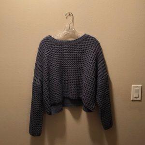 LA Hearts Cropped Boxy Sweater